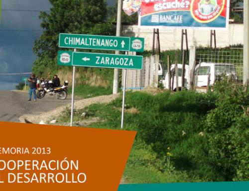 Memoria 2013 Coop. al Desarrollo