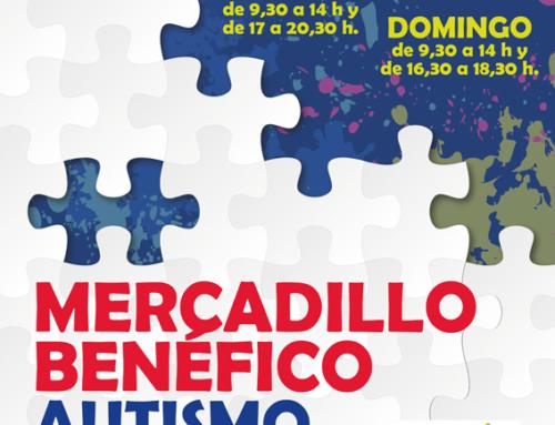 Autismo Aragón inaugura el viernes la nueva edición de su Mercadillo benéfico