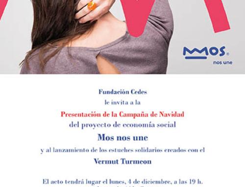 El lunes 4: Evento de presentación de la colaboración solidaria de Turmeon con Fundación CEDES para la campaña de Navidad de Mos nos une