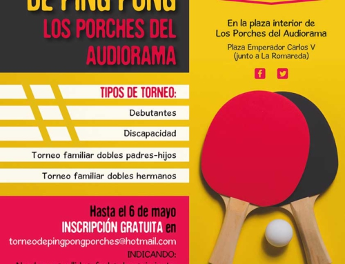 Cuenta atrás para la IX edición del Torneo de Ping Pong de Los Porches del Audiorama
