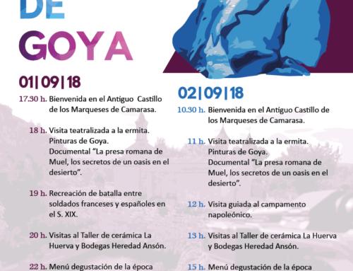Inscripciones abiertas para las jornadas turísticas 'Muel en tiempos de Goya' que se celebrarán el 1 y 2 de septiembre