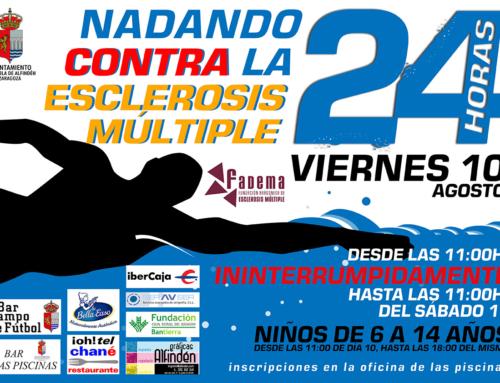 La Puebla de Alfindén continua su lucha contra la esclerosis múltiple con el I Maratón Acuático Solidario 24 horas