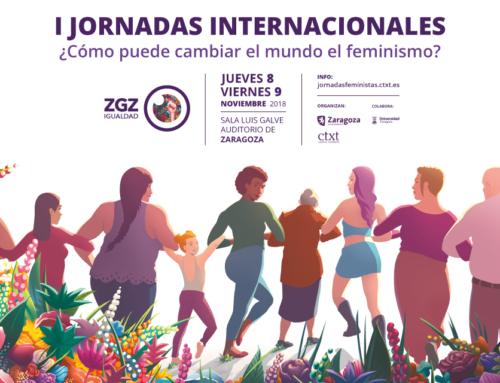 Más de 300 inscritas, en apenas una semana, a las I Jornadas Feministas de Zaragoza que se celebrarán el 8 y 9 de noviembre