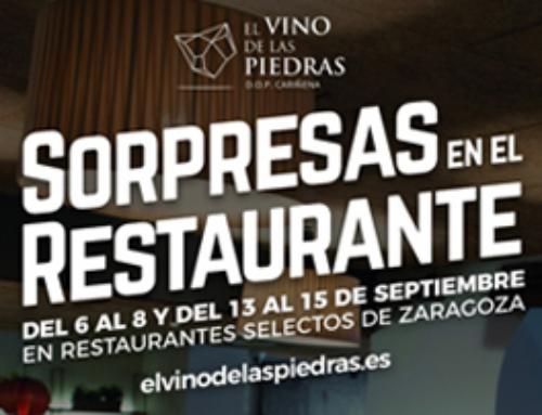 """Vuelven las """"Sorpresas en el Restaurante"""" de la D.O.P. Cariñena con destacadas novedades"""