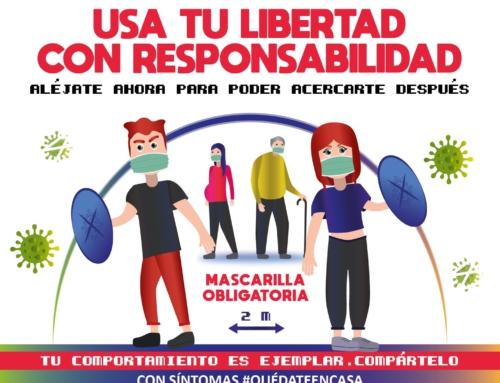 Usa tu libertad con responsabilidad. Llamamiento del Ayuntamiento a la juventud zaragozana.