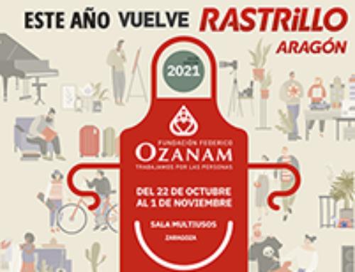 Este año vuelve el Rastrillo Aragón de la Fundación Federico Ozanam. El tradicional Rastrillo NO Se Queda En Casa.